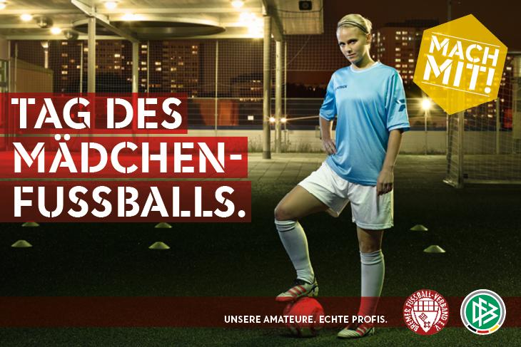 Drei Vereine bieten in diesem Jahr den Tag des Mädchenfußballs an: Sei dabei und mach mit! (Grafik: Jung von Matt/sports)