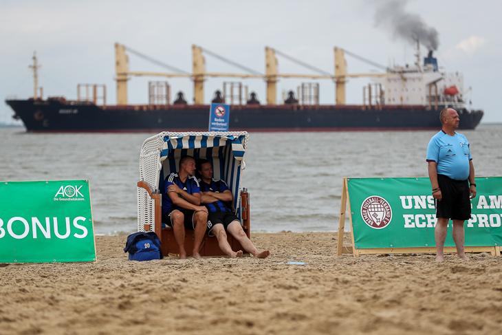 Das Weser-Strandbad in Bremerhaven bot erneut eine hervorragende Kulisse für das Turnier.
