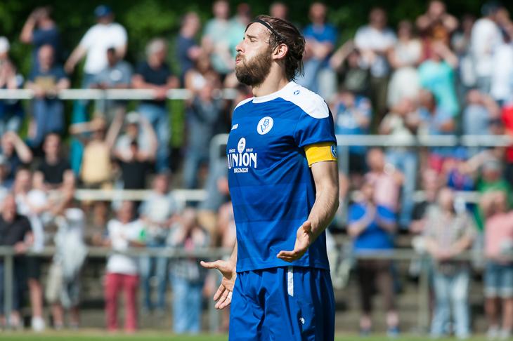 BSV-Kapitän Nils Laabs kann es nicht fassen. Sein Team scheiterte bereits zum vierten Mal in Folge in der Aufstiegsrunde.