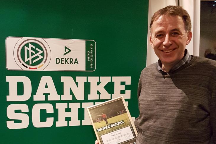 Ronald Neidel wurde in der Kategorie der Ü 50-Referees als Landessieger ausgezeichnet. (Foto: frei)