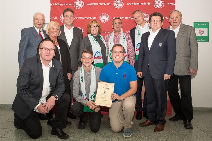 Familie Karpinski von der BTS Neustadt freute sich über die Auszeichnung.