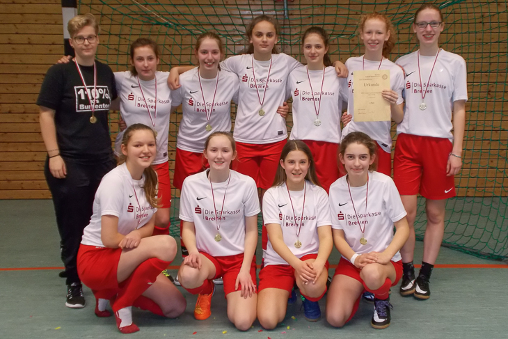 Der ATS Buntentor ist Futsal-Landesmeister der C-Juniorinnen. (Foto: Joachim Dietzel)
