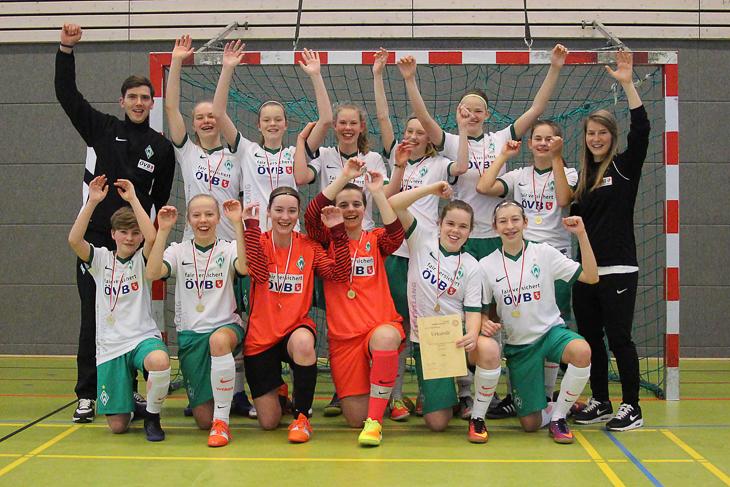 Jubel bei den U 15-Juniorinnen des SV Werder Bremen. (Foto: Dietmar Haß)
