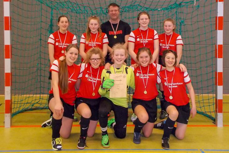 Bei den C-Juniorinnen freuten sich die Mädchen des FC Union 60 über den Titel. (Foto: Joachim Dietzel)