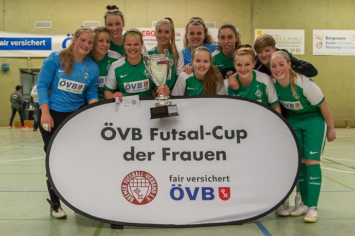 Sieger des 2. ÖVB Futsal-Cups der Frauen: Der SV Werder Bremen II. (Fotos: Oliver Baumgart)