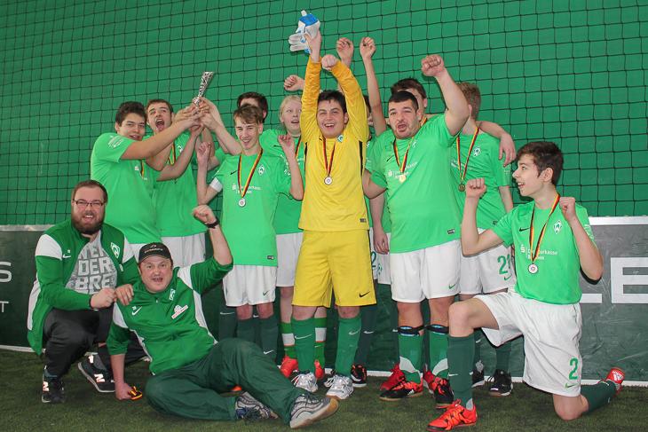 Die Werder Youngstars waren mit Begeisterung bei der Sache.