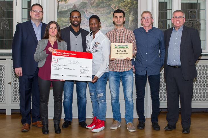 Der TS Woltmerhausen ist Sieger des BFV-Integrationspreises 2017.
