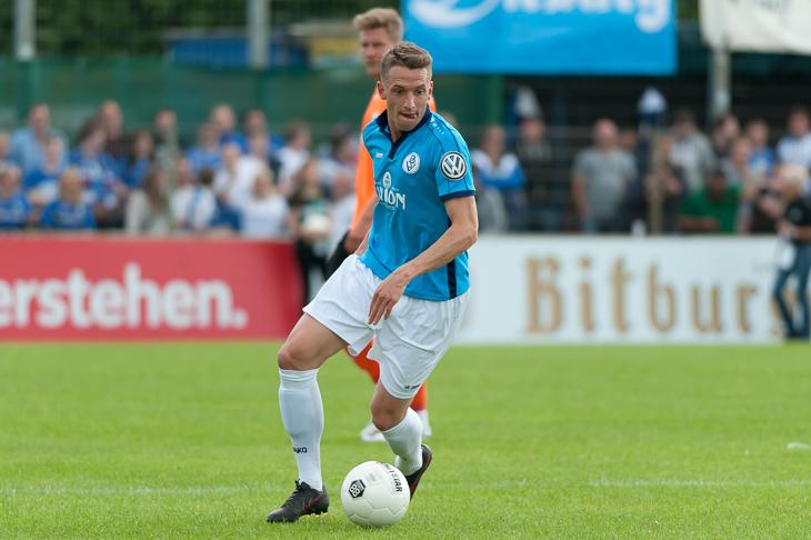 Sebastian Kurkiewicz brachte den Bremer SV in Bremerhaven in Führung.