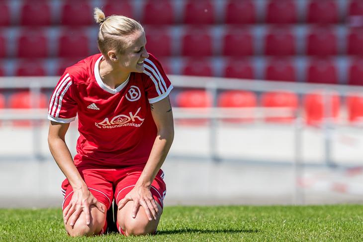 Aline Stenzel hatte zwei Mal die Führung für den ATS auf dem Fuß. (Foto: dgphoto.de)