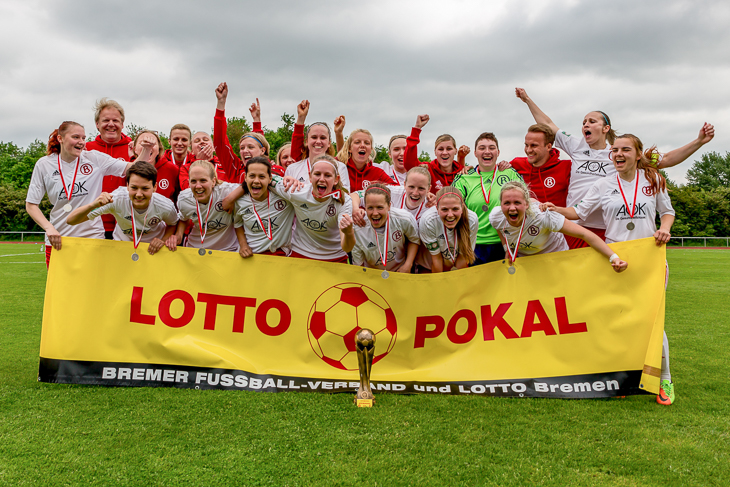 Die Mannschaft des ATS Buntentor spielt nächste Saison erneut im DFB-Pokal. (Fotos: dgphote.de)