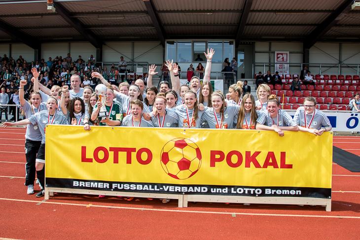 Der SC Weyhe ist LOTTO-Pokalsieger der Frauen. (Fotos: dgphoto.de)