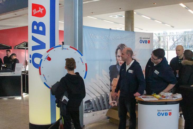 Das ÖVB-Glücksrad war ein beliebter Anlaufpunkt. (Foto: Ralf Krönke)