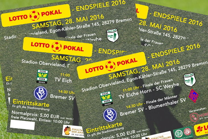 Tickets für die LOTTO-Pokal Endspiele gibt es im Vorverkauf und an der Tageskasse. (Foto & Montage: Oliver Baumgart)