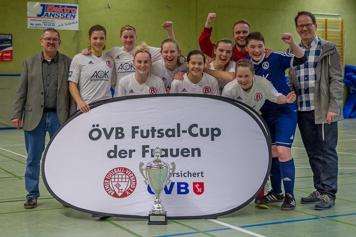 Sieger des 4. ÖVB Futsal-Cups der Frauen: Der ATS Buntentor.