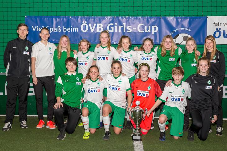 Sieger des 5. ÖVB Girls-Cup 2017: Der SV Werder Bremen. (Fotos: dgphoto.de)