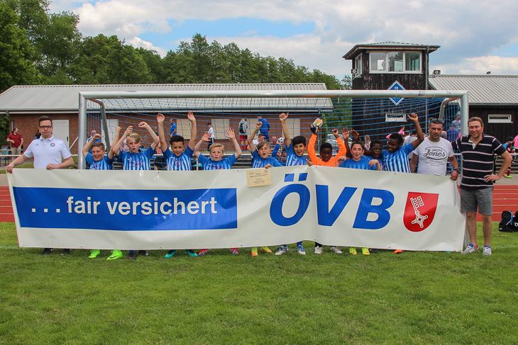 Jubel bei Turniersieger SVGO Bremen.