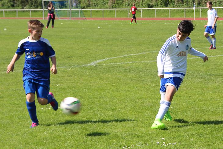 Spielszene aus der Partie zwischen der Leher TS und der SV Hemelingen.