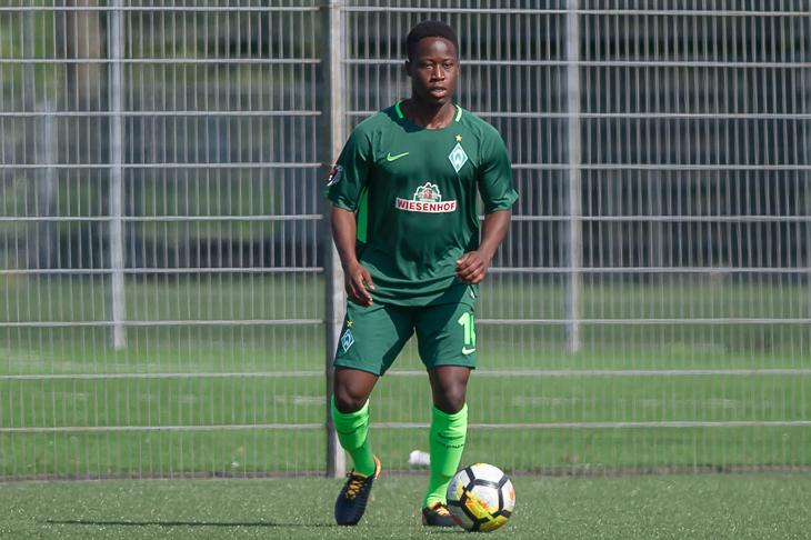Richard MC-Mensah Quarshie tritt mit Werders U 21 beim OSC Bremerhaven an. (Foto: Oliver Baumgart)