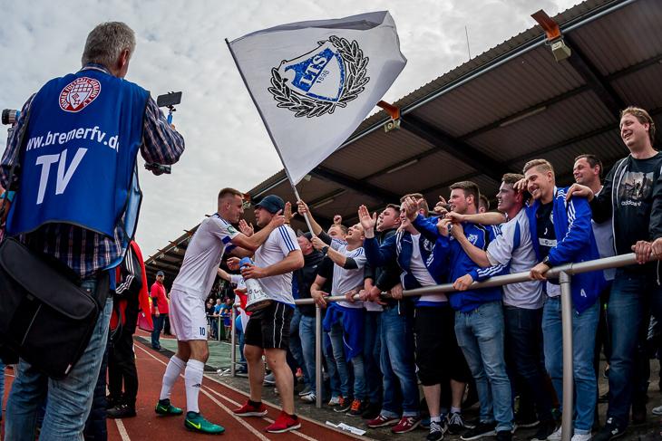 1,17 Millionen Zuschauer waren beim Elfmeterkrimi zwischen der Leher TS und dem Bremer SV vor dem Fernseher dabei. (Foto: dgphoto.de)