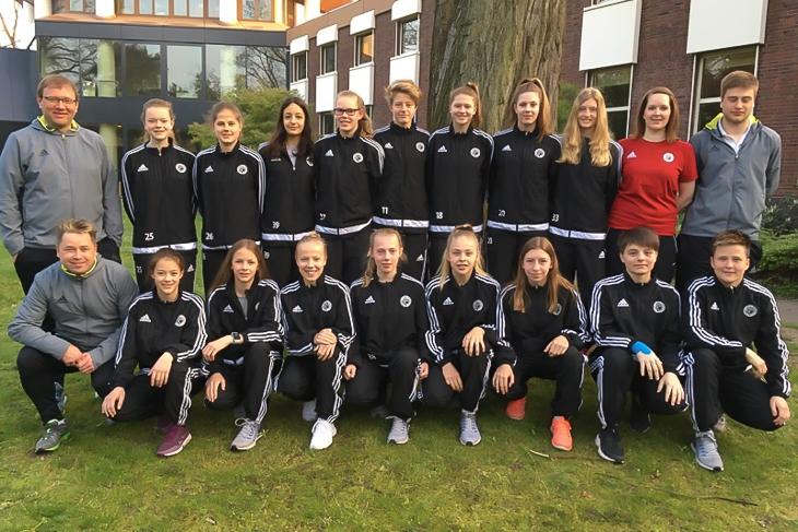 Neunter Platz an der Wedau: Die U 16-Juniorinnen des BFV. (Foto: privat)