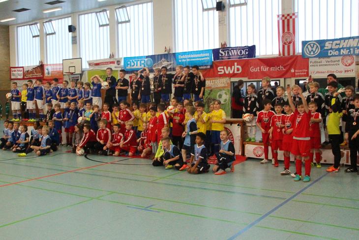 Die Siegerehrung der F-Junioren.