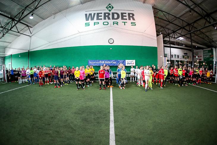 Die teilnehmenden Mannschaften des ÖVB Girls-Cup 2019. (Foto: Sven Peter)