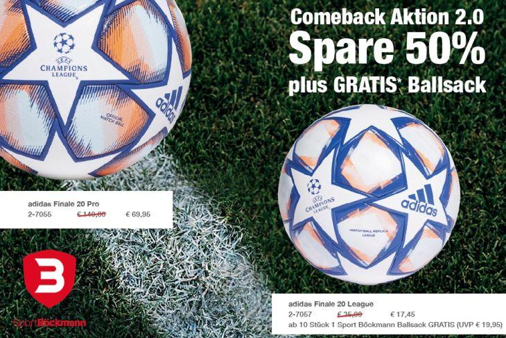Pünktlich zum voraussichtlichen Restart: Die Comeback-Aktion von Sport Böckmann. (Foto: Sport Böckmann)