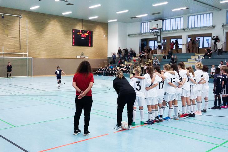 Die U 14-Juniorinnenauswahl des BFV beeindruckte auf dem U 12-Turnier der Jungs. (Foto: privat)