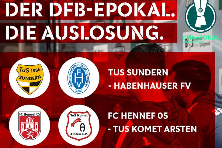 Am 11. Februar wurden die Partien für die Vorrunde des DFB-ePokals ausgelost. (Grafik: David Dischinger)