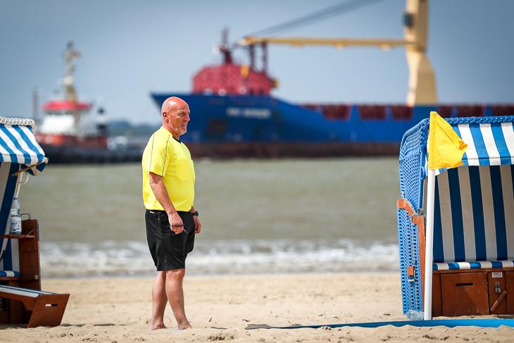 Die Schiedsrichter, hier Werner Bachmann, hatten einen ruhigen Tag. Die Spiele verliefen durchweg fair. (Foto: Sven Peter)