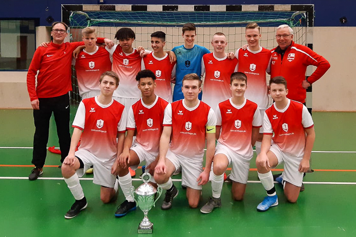 Der SC Borgfeld II ist Sieger des BFV Futsal-Cups der B-Junioren. (Foto: Paul Seidel)