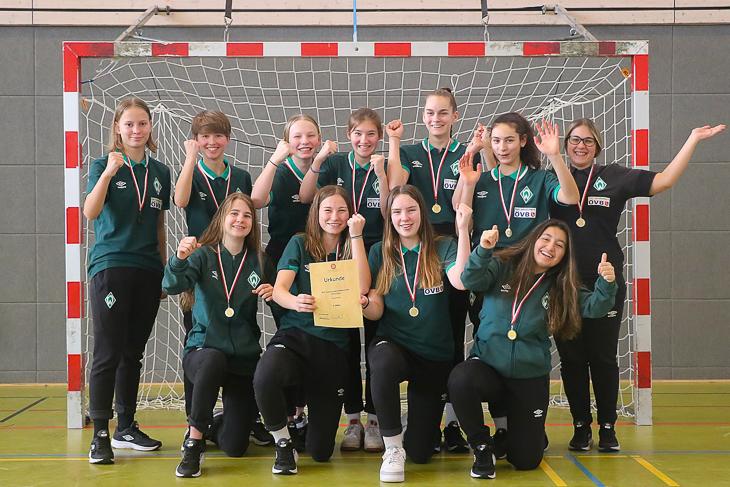 Jubel bei den U 15-Mädchen des SV Werder Bremen. (Foto: Dietmar Haß)