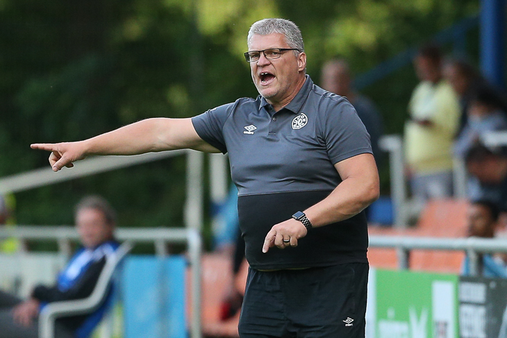 Hat Union-Coach Frank Dahlenberg den passenden Matchplan für eine Pokalsensation ausgetüftelt? (Foto: Oliver Baumgart)