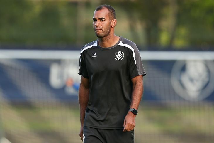 Für 90 Minuten wird die Freundschaft ruhen: BSV-Coach Benjamin Eta will bei seinem Ex-Verein gewinnen. (Foto: Oliver Baumgart)