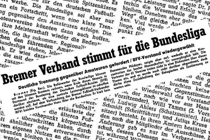 Grünes Licht aus Bremen: Der BFV stimmt im DFB für die Einführung der Bundesliga. (Foto: Archiv)