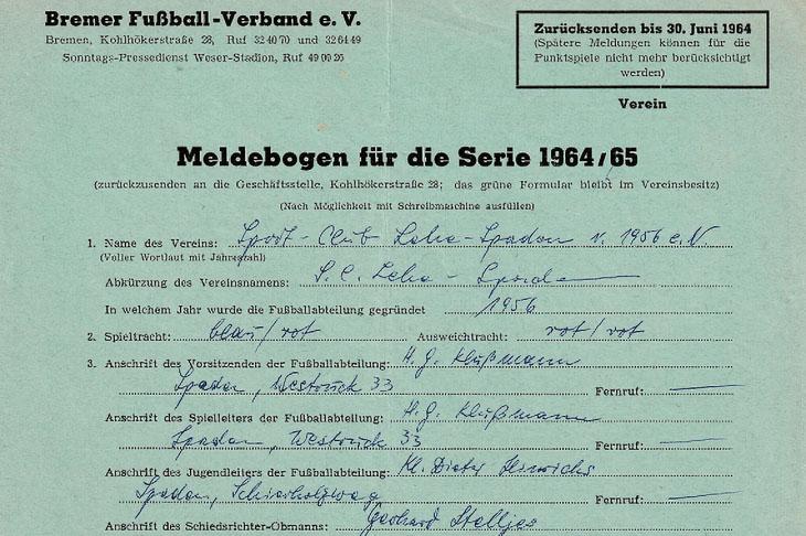 Das wichtigste Dokument vor der Saison war stets der Meldebogen. Früher als Papierformular, ist er heute natürlich längst digital. (Foto: Archiv)