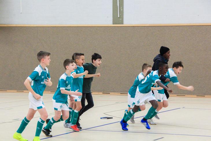 Die Jungs von Werder erkämpften sich im Sechsmeterschießen den dritten Platz. (Foto: Ralf Krönke)