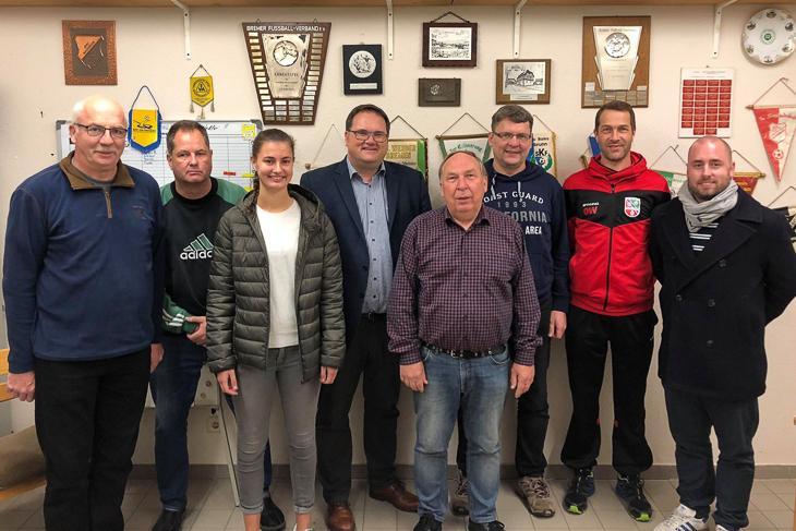 Die Fußballabteilung der SG Arbergen-Mahndorf freute sich über den Besuch des Verbandes. (Foto: David Dischinger)