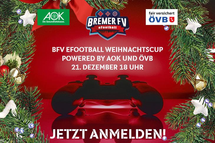 Am 21. Dezember könnt ihr an unserem BFV eFootball Weihnachtscup teilnehmen. (Grafik: David Dischinger)