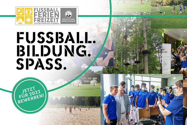 DFB-Stiftung Egidius Braun startet Ausschreibung für Fußball-Ferien-Freizeiten – jetzt bewerben! (Foto: DFB)