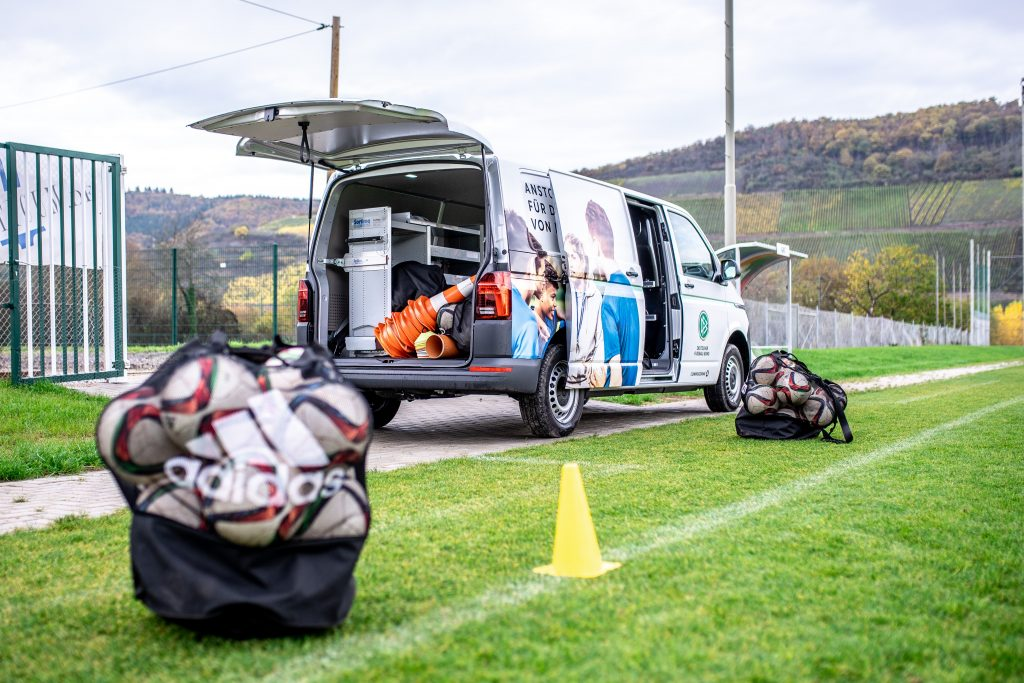 KOBLENZ AM RHEIN, GERMANY - OCTOBER 23: A general view of a DFB-Mobil training session is seen at a training ground on October 23, 2020 in Osterspai, Germany. (Photo by Frederic Scheidemann/Getty Images)