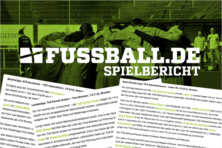 Ab der kommenden Saison gibt es die automatischen Spielberichte auf FUSSBALL.DE in allen Spielklassen. (Foto: FUSSBALL.DE, Montage: Oliver Baumgart)