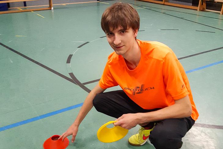 Paul Seidel hat in dieser Woche viel Zeit in der Sporthalle verbracht. (Foto: privat)