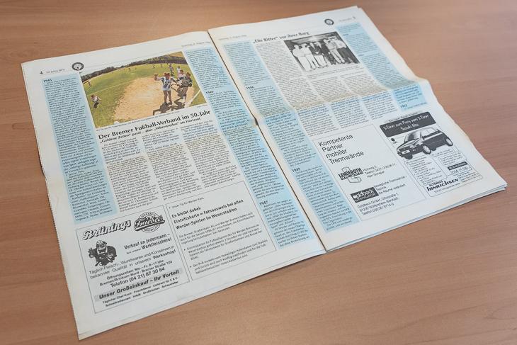 Eine Zeitung im Zeichen der Digitalisierung? Shannon Görke löst das Rätsel auf. (Foto: Oliver Baumgart)