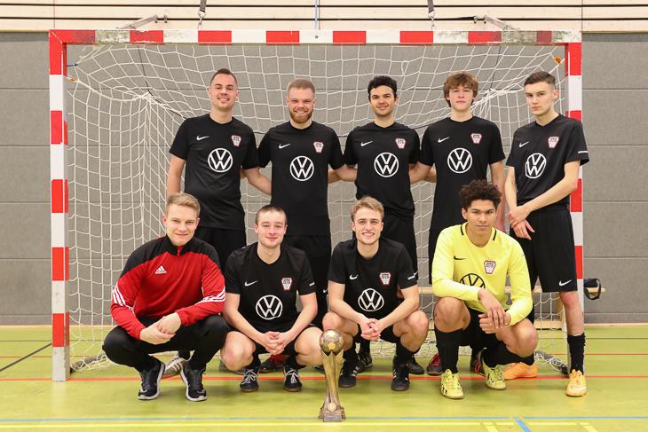 Die BTS Neustadt ist Sieger des BFV Futsal-Pokals der Herren. (Foto: Fred Michalsky)