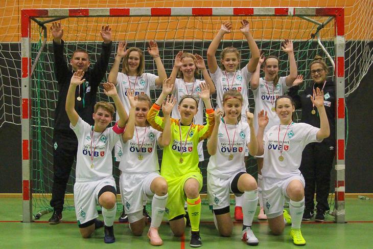 Jubel bei Turniersieger und Landesmeister Werder Bremen. (Foto: Dietmar Haß)