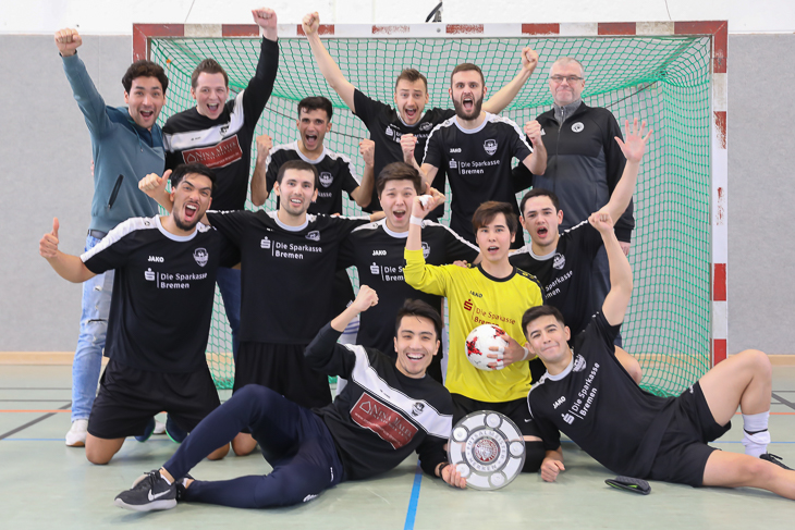 Der FC Riensberg ist neuer Futsal-Landesmeister der Herren. (Foto: Fred Michalsky)