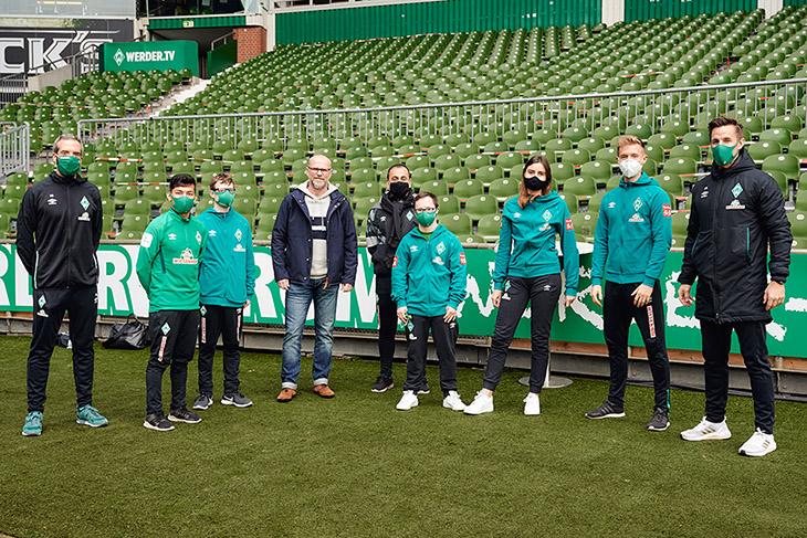 Werder Bremen engagiert sich sich in zahlreichen Themenfeldern sozial. (Foto: UEFA)