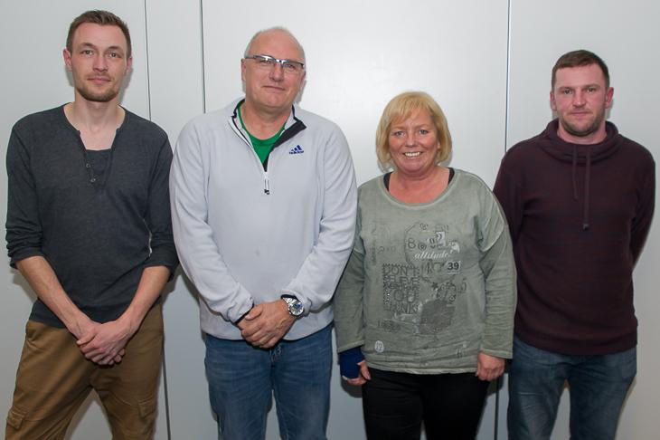 Der neue Vorstand des Kreises Bremen-Nord: Sebastian Berger, Matthias Schmit, Doris Burdorf und Stefan Blümel. (Foto: Oliver Baumgart)