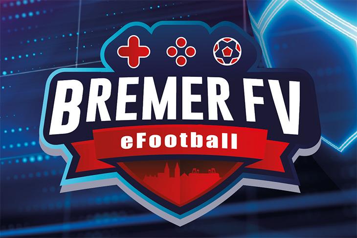 Das offizielle eFootball-Logo des BFV ist von der Form und Gestaltung her dem Controller einer Spielekonsole nachempfunden.